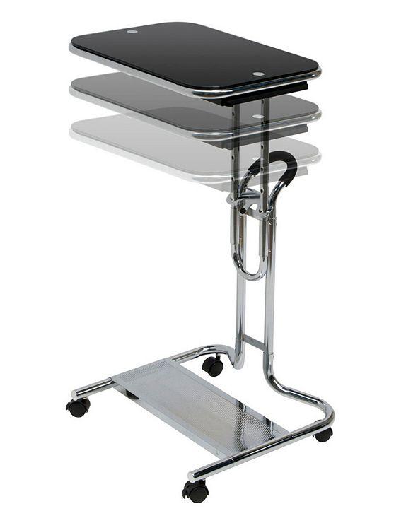 Clickhere2shop Laptop Cart with Mouse Chrome