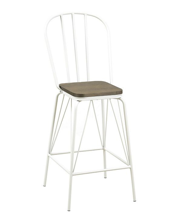 Furniture of America Chelsea Cottage Windsor Pub Chair (Set of 2)