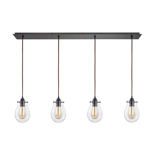 ELK Lighting Jaelyn 4 Light Pendant in Oil Rubbed Bronze