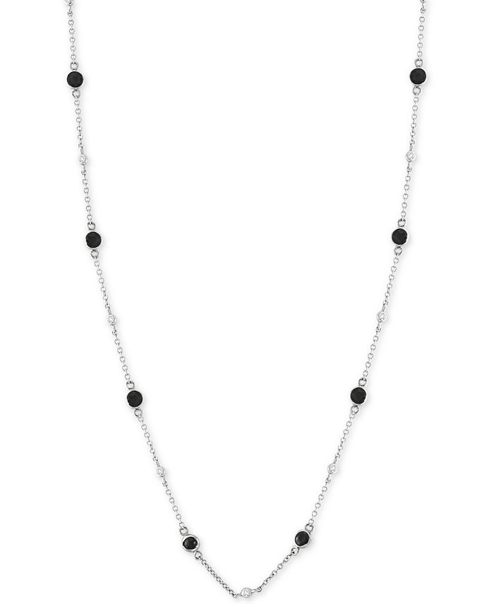 """EFFY Collection - Diamond Bezel 18"""" Statement Necklace (1-1/5 ct. t.w.) in 14k White Gold"""