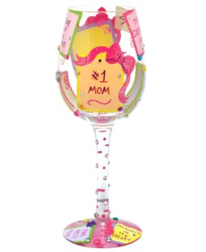 Lolita Glassware, #1 Mom Wine Glass