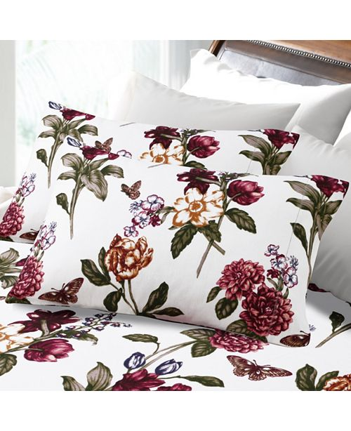 Tribeca Living 200 Gsm Flannel Blossoms Printed Extra Deep Pocket Flannel Twin Sheet Set Reviews Sheets Pillowcases Bed Bath Macy S