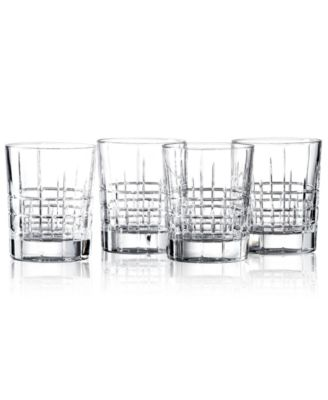 Lauren Ralph Lauren Barware, Set of 4 Cocktail Party Double Old Fashioned Glasses