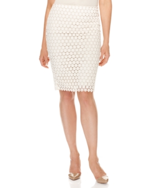 Charter Club Skirt, Floral Lace Pencil