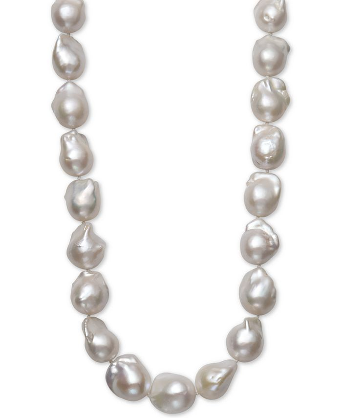 """Belle de Mer - Cultured Baroque Freshwater Pearl (13 to 16mm) 17"""" Collar Necklace"""
