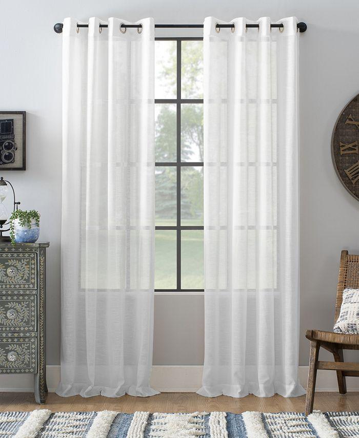 Archaeo - Slub Textured Linen Blend Grommet Top Curtain Collection