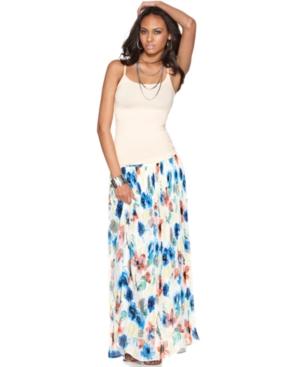 Buffalo Jeans Skirt, Malika Floral Print Maxi Pleated