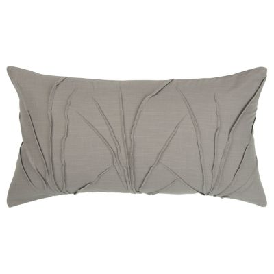 "Solid 14"" x 26"" Textured Down Filled Pillow"