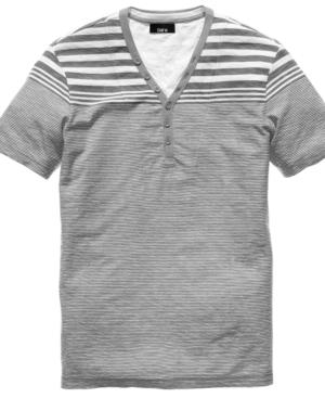 Bar III T Shirt, Luk Henley Stripe T Shirt
