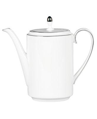 Vera Wang Wedgwood Dinnerware, Blanc sur Blanc Coffee Pot