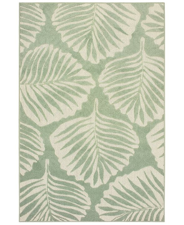 "Oriental Weavers Barbados 8027Z Green/Ivory 7'10"" x 10' Indoor/Outdoor Area Rug"