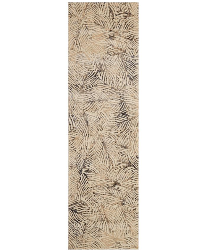 "Loloi - Dreamscape DM-04 Charcoal/Beige 2'3"" x 8' Runner Area Rug"