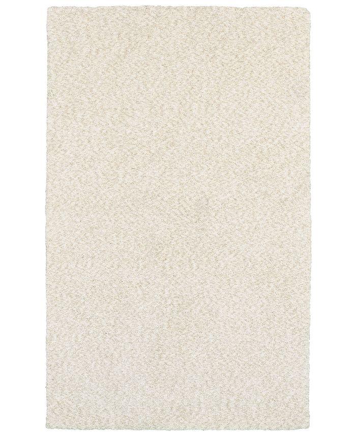 Oriental Weavers - Heavenly Shag 73402 Ivory/Ivory 5' x 7' Area Rug