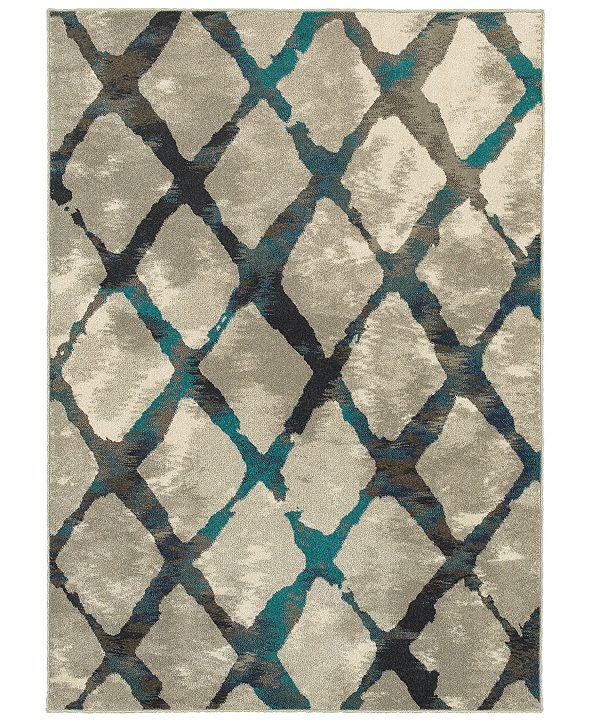 "Oriental Weavers Highlands 6613A Gray/Blue 5'3"" x 7'6"" Area Rug"