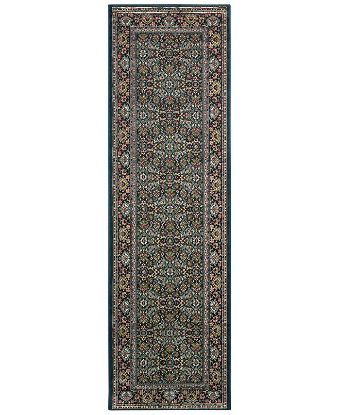 """Oriental Weavers - Kashan 180L Navy/Multi 2'3"""" x 7'6"""" Runner Area Rug"""