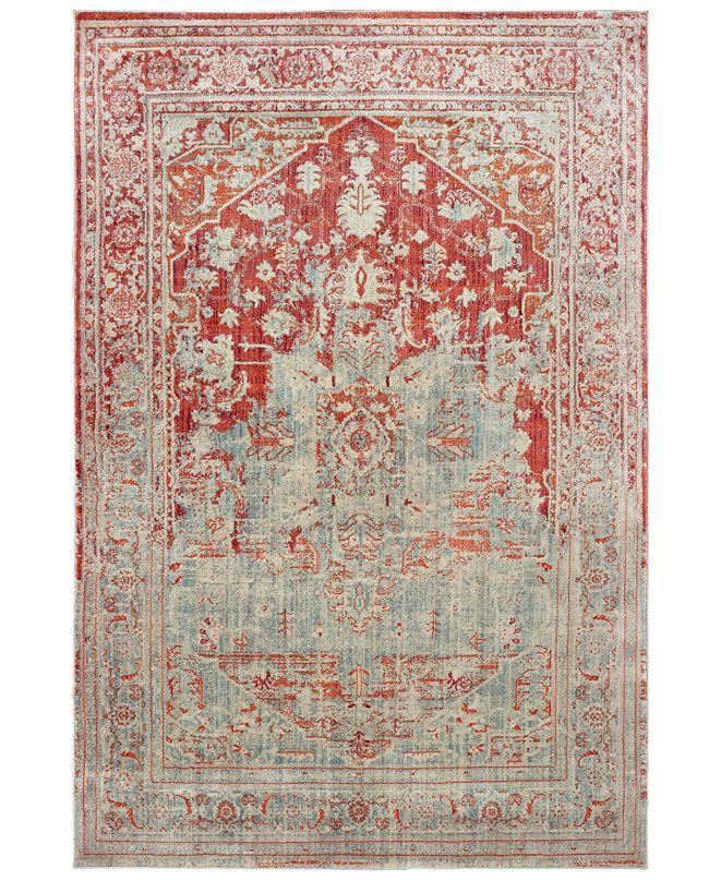 "Oriental Weavers Pandora 1501U Gray/Orange 7'10"" x 10'10"" Area Rug"