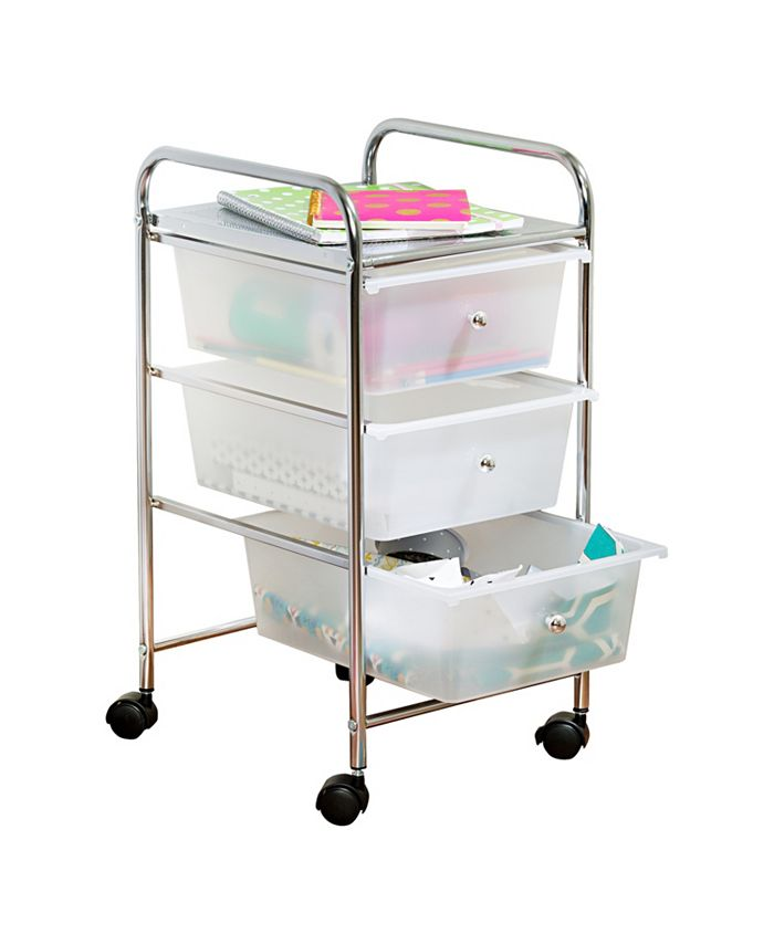 Honey Can Do - 3 Drawer Rolling Cart
