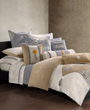 Natori Bedding, Lotus Temple King Quilted Coverlet Bedding