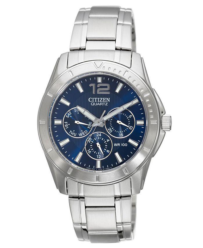 Citizen - Men's Chronograph Stainless Steel Bracelet Watch 41mm AG8300-52L