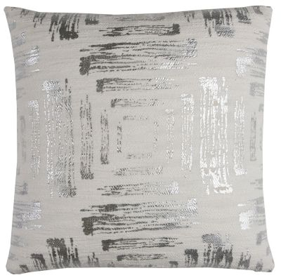 "20"" x 20"" Textured Abstract Foil Print Pillow Cover"