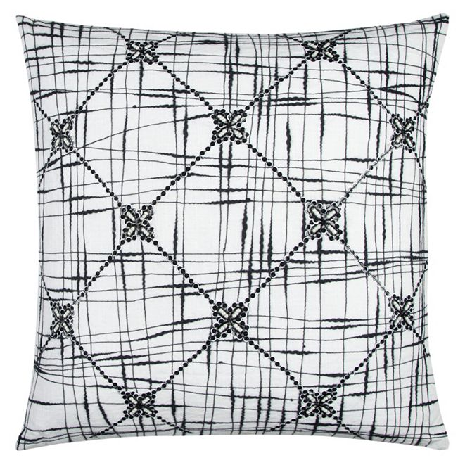 """Rizzy Home 20"""" x 20"""" Geometric Textured Abstract Design Pillow Cover"""