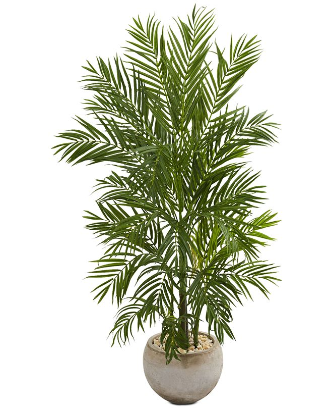 Nearly Natural 5' Areca Palm Artificial Tree in Bowl Planter