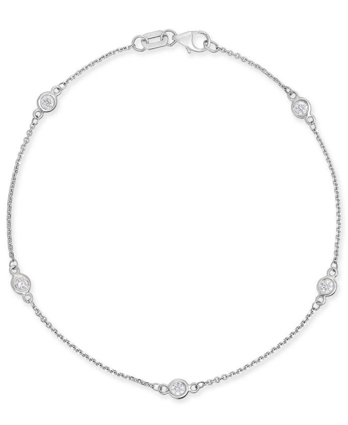 Macy's Diamond Bezel Link Bracelet (1/3 ct. t.w.) & Reviews - Bracelets - Jewelry & Watches - Macy's