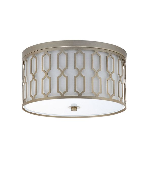 JONATHAN Y Link 3-Light Metal Led Flush Mount