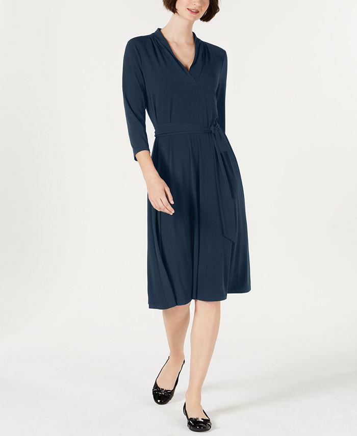Charter Club - Petite Solid Midi Dress
