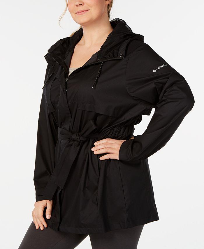 Columbia - Plus Size Belted Rain Jacket