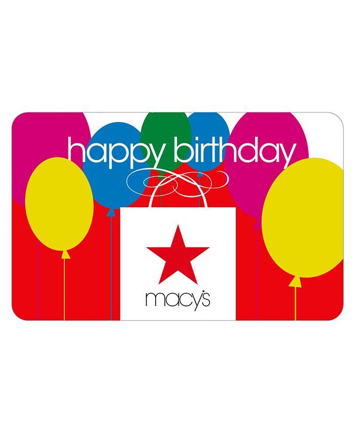 Macy's - Happy Birthday  Bag E-Gift Card
