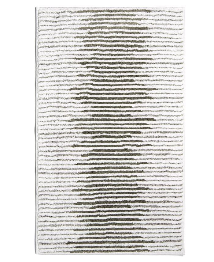 """Hotel Collection - Textured Stripe Cotton 22"""" x 36"""" Bath Rug"""