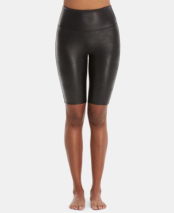 SPANX - Faux-Leather Bike Shorts