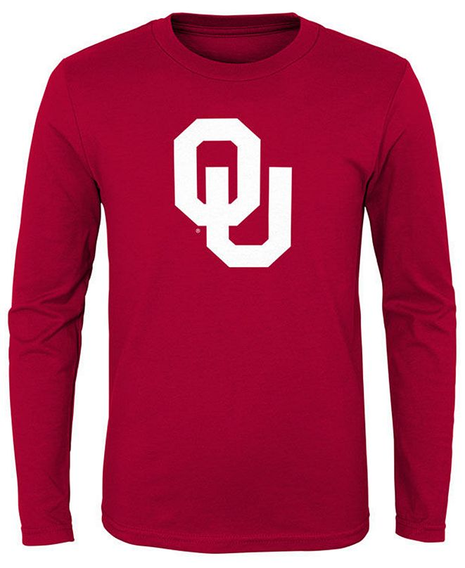 Outerstuff Oklahoma Sooners Primary Logo Long Sleeve T-Shirt, Little Boys (4-7)
