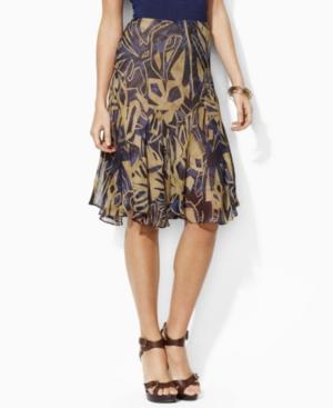 Lauren by Ralph Lauren Skirt, Cheryl Floral Printed Gored