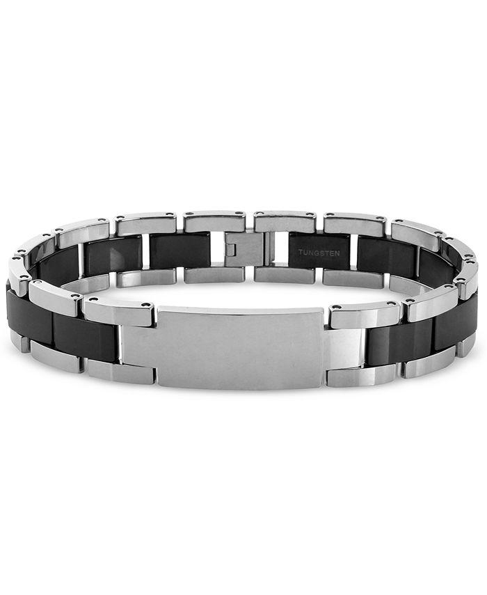Macy's - Men's ID Bracelet in Tungsten