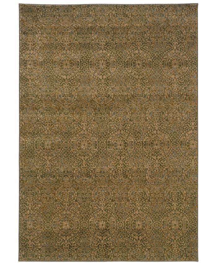 "Oriental Weavers - Casablanca 4441C Beige/Blue 6'7"" x 9'6"" Area Rug"