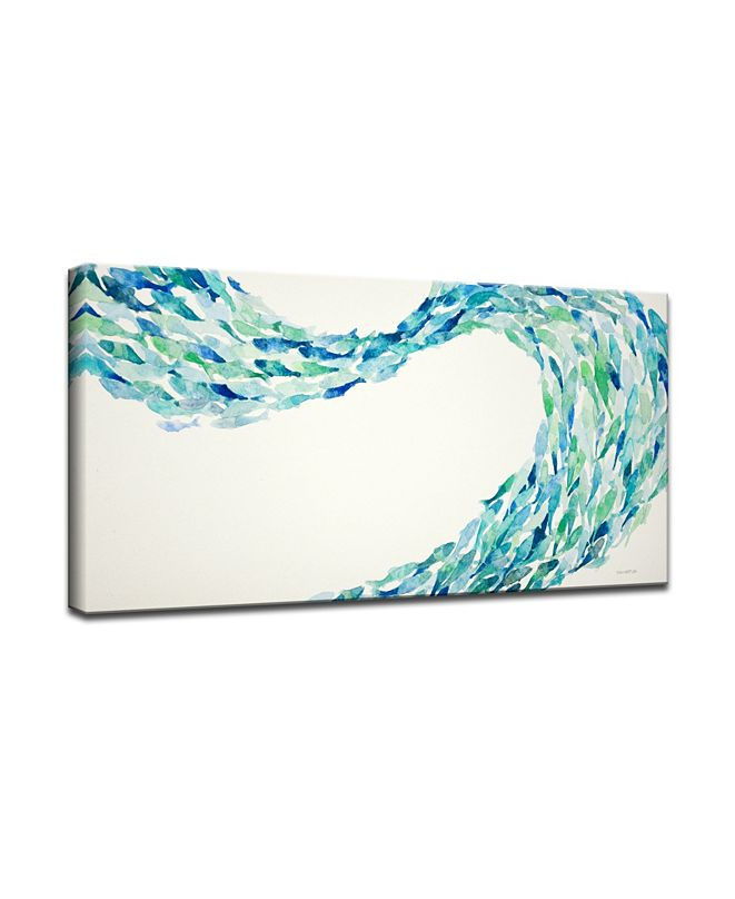 Ready2HangArt 'Blue Wave' Canvas Wall Art, 18x36""