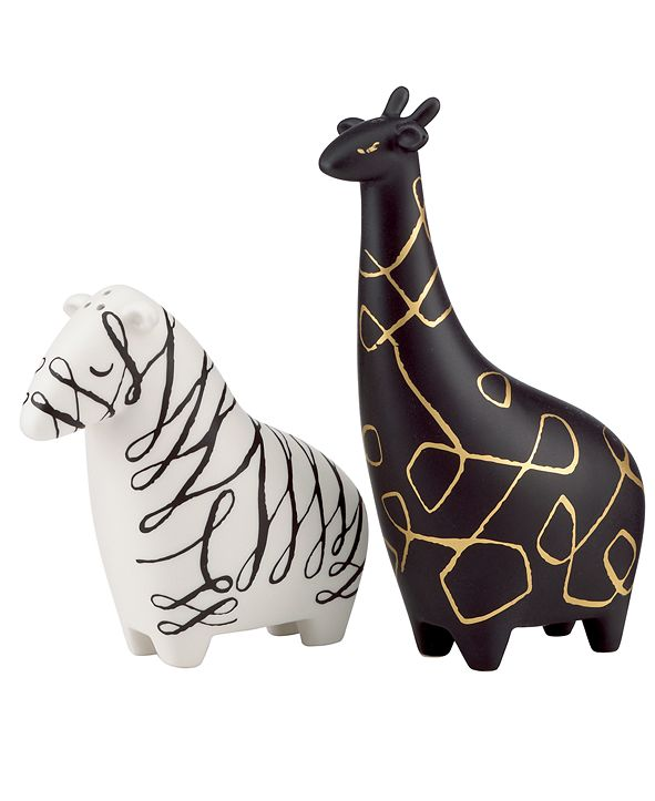 kate spade new york Salt and Pepper Shakers, Woodland Park Zebra and Giraffe