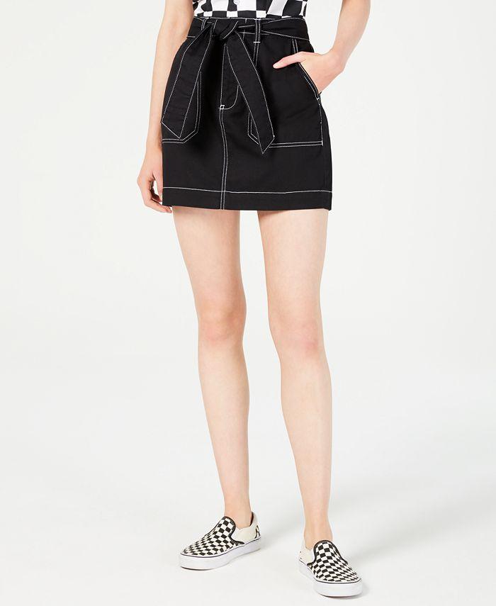 Dickies - Cotton Tie-Belt Utility Skirt