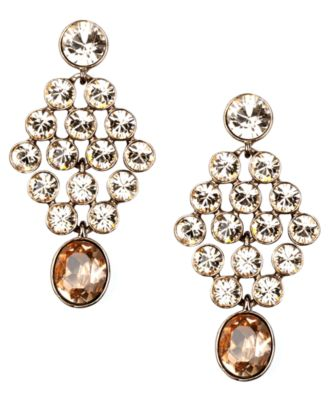 Givenchy Earrings, Silk Glass Chandelier Earrings