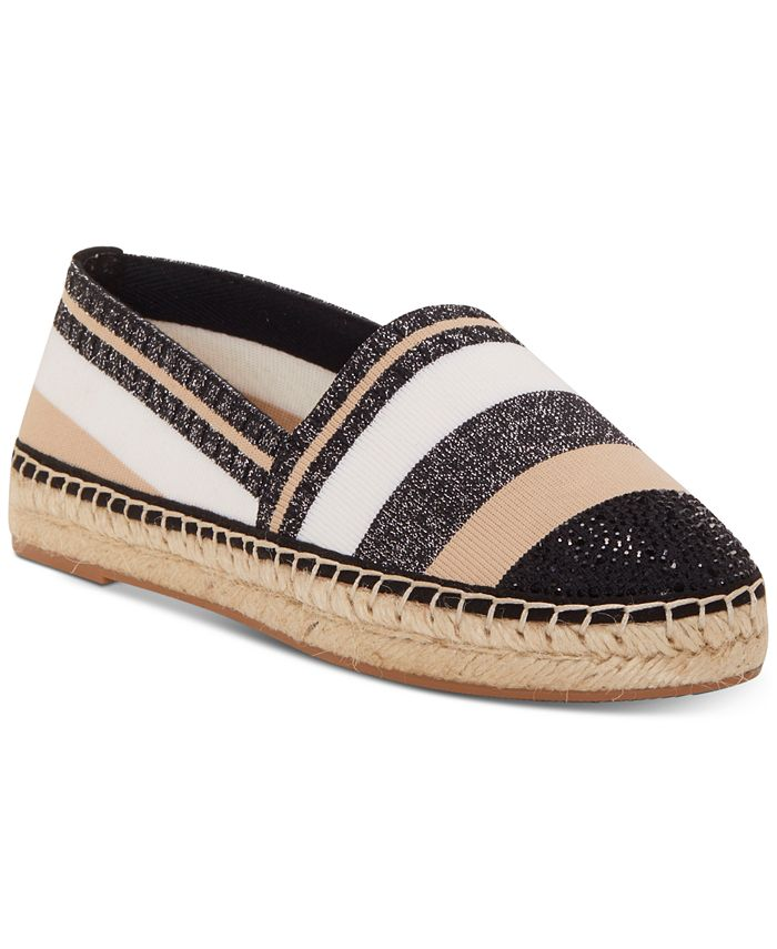 INC International Concepts - Women's Corvina Capped-Toe Woven Espadrille Flats
