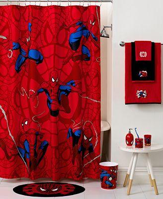 Marvel bath spiderman sense shower curtain bathroom accessories bed bath macy 39 s - Marvel superhero bathroom accessories ...