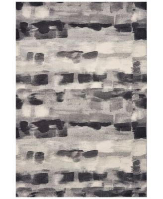 "Illusions Palette 6214 Gray 5'3"" x 7'7"" Area Rug"