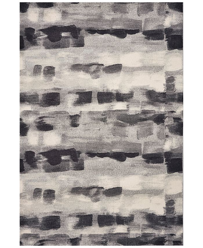 """Kas - Illusions Palette 6214 Gray 5'3"""" x 7'7"""" Area Rug"""