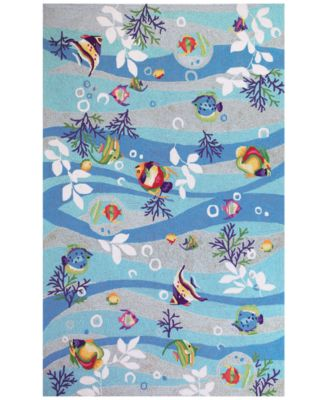 Sonesta Tropical Fish 2011 Blue 5' x 7'6