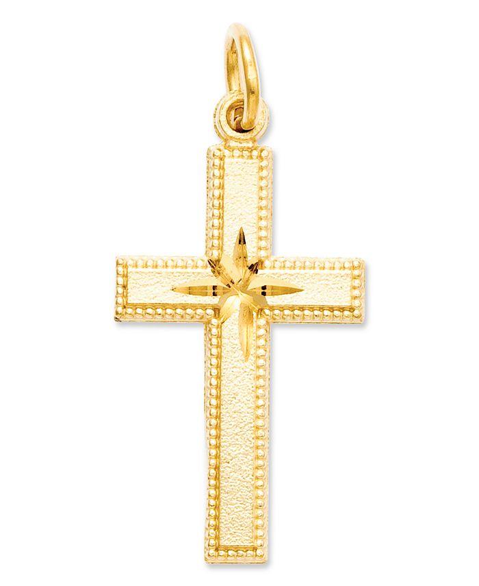 Macy's - 14k Gold Charm, Cross Charm