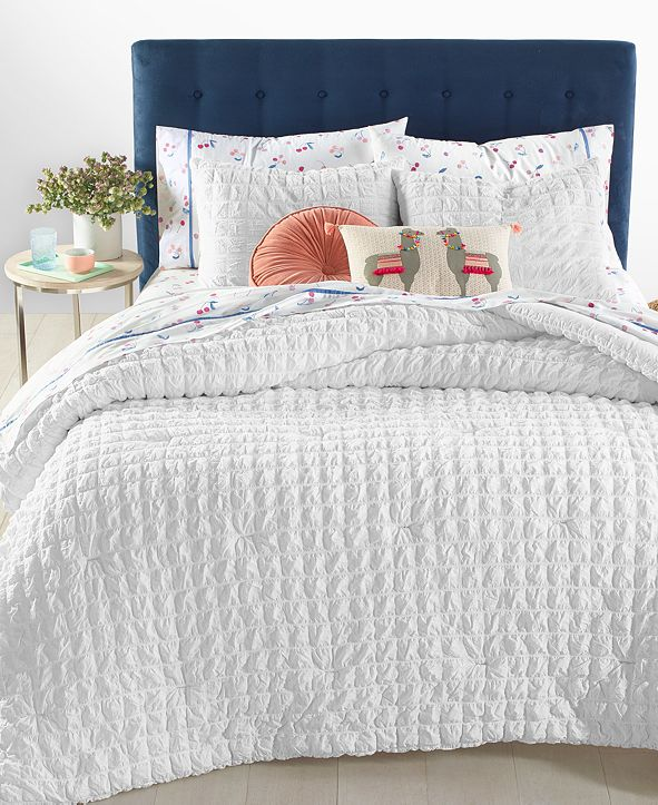 Martha Stewart Collection Seersucker Bedding Collection, Created for Macy's