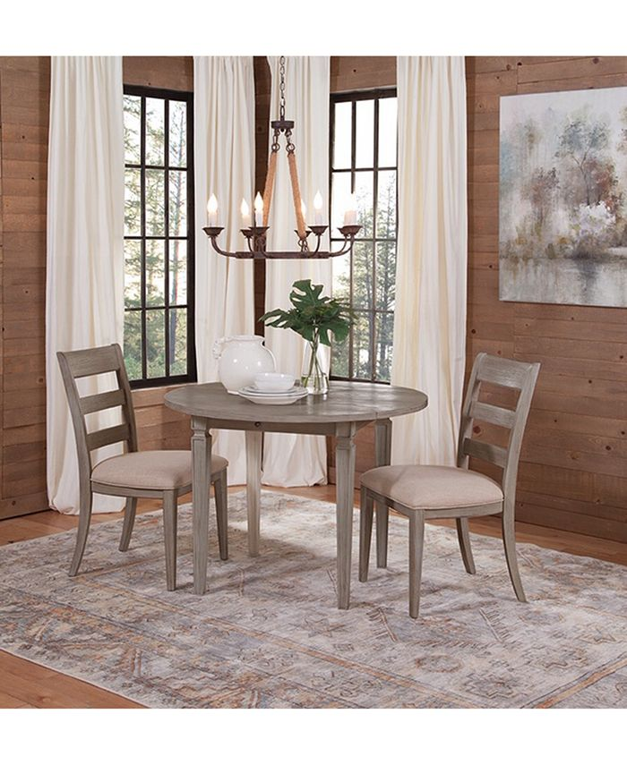 Furniture Talulah Dining Furniture 3 Pc Set Table 2 Wood Back Side Chairs Reviews Furniture Macy S
