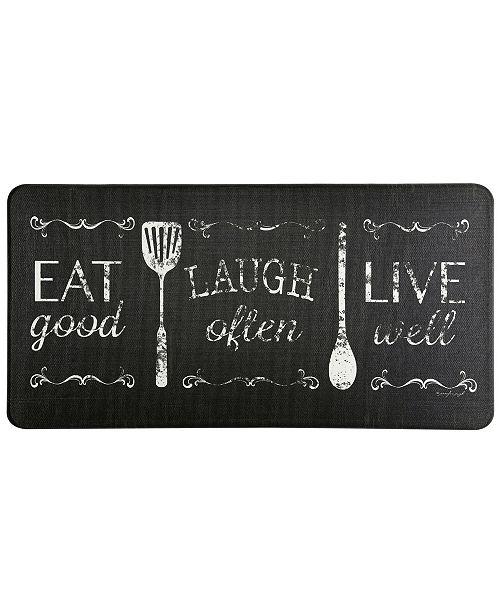 Home Dynamix David Burke Bloomfield Eat Laugh Live Cushioned Anti Fatigue Memory Foam Kitchen Mat Reviews Home Macy S